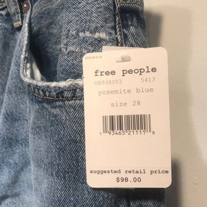 Free People Jeans - Free People distressed boyfriend jeans